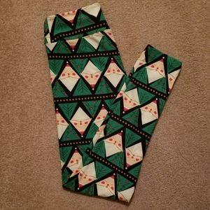 LuLaRoe Leggings. Christmas Pattern. OS (One Size)